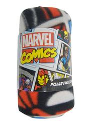 Marvel Comics Avenger Lightweight Warm Polar Fleece Blanket, 100 x 150cm, Multicolor