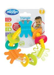 Playgro Gn New Design Triangle Rattle, Multicolour