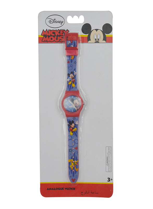 Disney Micky Mouse Analog Watch for Boys, 3+ Years, One Size, Red