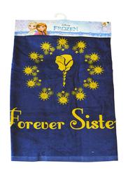 Disney Frozen Hooded Poncho Bath Towel for Girls, 60 x 120cm, Dark Blue