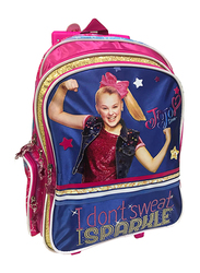 Nickelodeon JoJo Siwa I Don't Sweet I Sparkle 16-Inch Trolly Bag for Girls, Pink