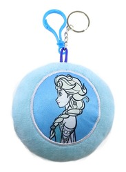 Disney Frozen Stuffed Plush Doll Key Chain & Toys Key Ring with Embroidery For Girls, Blue