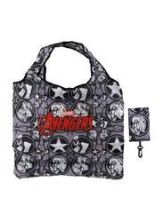 Marvel The Avengers Foldable Travel/Shopping Bag For Boys, Grey