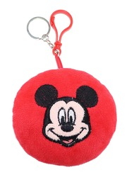Disney Mickey Mouse Stuffed Plush Doll Key Chain & Toys Key Ring with Embroidery For Boys, Red