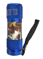 Marvel Avengers Portable LED Torch Flashlight, with Wrist Strap, Blue