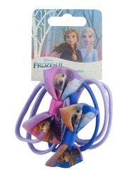 Disney Frozen II Hair Elastics Set for Girls, 6-Pieces, Lavender/Blue