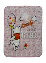 Disney Winnie The Pooh Baby Sac Wrap Zipper Swaddling Blankets for New Born, 80 x 90cm, Pink
