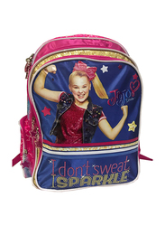 Nickelodeon JoJo Siwa I Don't Sweet I Sparkle 16-Inch Bagpack Bag for Girls, Pink