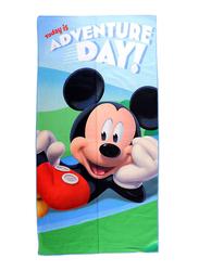 Disney Mickey Mouse Microfibre Beach Bath Towel for Boys, 60 x 120cm, Multicolour
