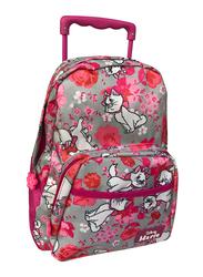 Disney Marie Cat Bloom & Bloom 13-Inch Trolly Bag for Girls, Pre School, Pink