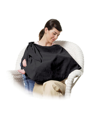 The First Year Fabric Nursing Privacy Wrap, Black