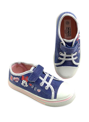 Disney Minnie Mouse Glitter Jeans Sneakers for Girls, 25 EU, Blue