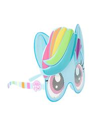 Hasbro MLP 3D Shaped Full Rim Sunglasses for Girls, Multicolor Lens, 3 Years+, Multicolor
