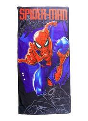 Marvel Spider-Man Microfibre Beach Bath Towel for Boys, 55 x 110cm, Blue
