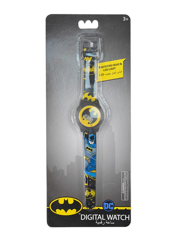 Warner Bros Batman Digital Watch for Boys, with Rotating Head Flashing Light, 3+ Years, Plastic, One Size, Multicolor