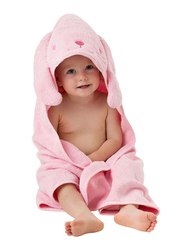 Playgro Home Bunny Hooded Towel for Kids, Pink