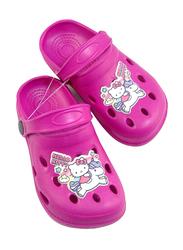 Sanrio Hello Kitty Themed Clogs for Girls, 26/27 EU, Fuchsia