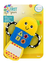 The First Years Peek-A-Boo Phone Teether, Yellow