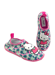Sanrio Hello Kitty Themed Slip-On Sneakers for Girls, 30 EU, Fuchsia