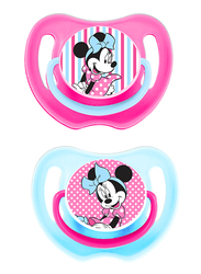 Disney Baby Soother Pacifier, 0+ Months, 2 Pieces, Fun Style Minnie Mouse, Multicolor