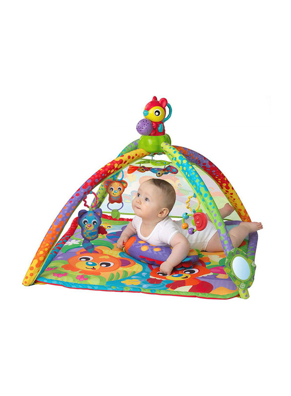 Playgro Woodlands Music & Lights Projector Gym, Multicolour