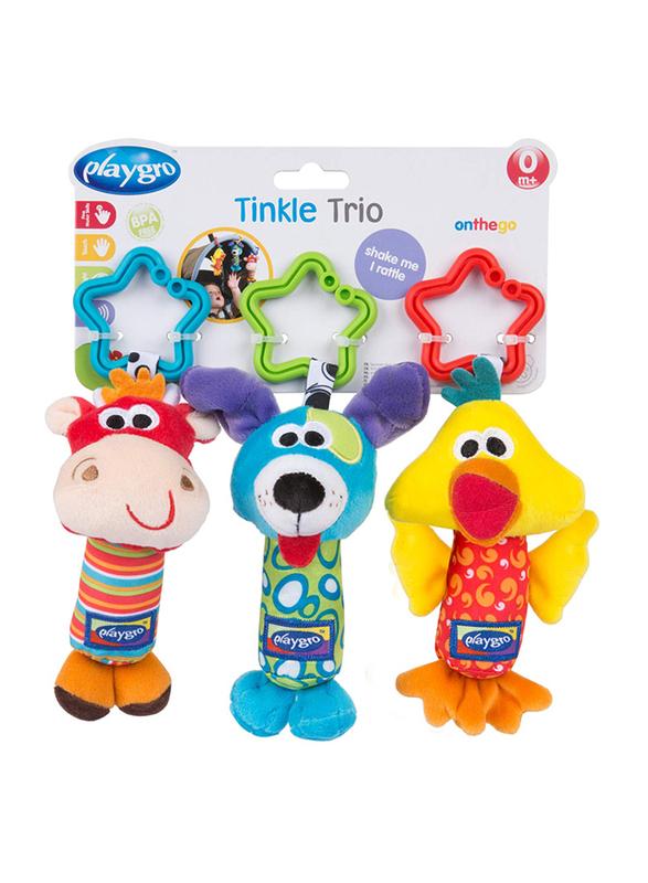 Playgro 3-Piece Tinkle Trio, Multicolour