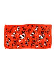 Disney Minnie Mouse Cotton Jacquard Towel for Girls, 60 x 120cm, Red/White/Black