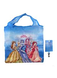 Disney Princesses Foldable Travel/Shopping Bag For Girls, Blue