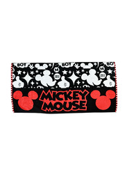 Disney Mickey Mouse Cotton Hand Towel for Boys, Black/White/Red