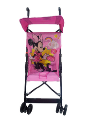 Disney Minnie Mouse Basic One Position Buggy Comfort Height Umbrella Baby Stroller, Pink