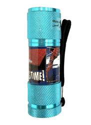 Marvel Spider-Man Portable LED Torch Flashlight, with Wrist Strap, Light Blue