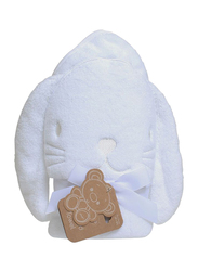 Playgro Home Bunny Hooded Towel for Kids, White