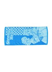 Disney Frozen Cotton Jacquard Towel for Girls, 60 x 120cm, Blue