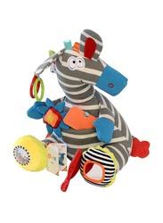 Dolce Musical Zebra Plush Interactive Stuffed Toy, Multicolour