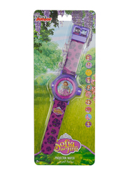 Disney Sofia Projection Watch for Girls, with 10 Images, 3+ Years, Plastic, One Size, Purple
