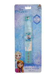 Disney Frozen Digital Watch for Girls, with Shinning Squama, 3+ Years, Plastic, One Size, Multicolor