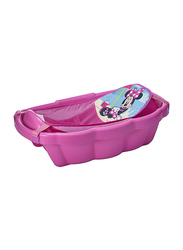 The First Year Minnie Mouse Shell Bath Tub with Toys for Newborn, Pink