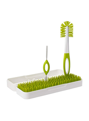 Boon Trip Travel drying Rack With Bottle Brushes, Green