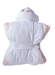Disney Marie Soft Velboa/PP Cotton 3D Head Digitally Printed Kids Cushion, 35 x 35cm, White