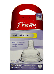 Playtex NaturaLatch Slow Flow Nipple, 2 Pieces, Clear