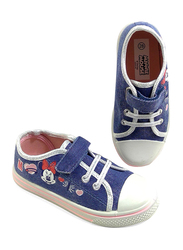Disney Minnie Mouse Glitter Jeans Sneakers for Girls, 30 EU, Blue