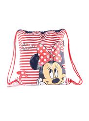 Disney Minnie Mouse Drawstring Bag /Shoe Bag Rucksack for Girls, 40cm, Red