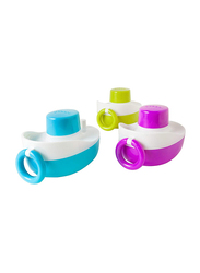 Boon Tones Musical Boats for Kids, Sky Blue/Green/Purple