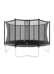 Berg Favorit 14 Feet Regular Trampoline with Safety Net Comfort, 430cm, Grey, Ages 6+