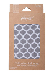 Playgro Wrap Cotton Honeycomb Blanket, Grey