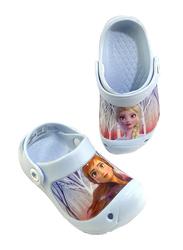 Crocs Disney Frozen 2 Anna Themed Clogs for Girls, 28 EU, Light Blue