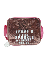 Disney Frozen Leave a Little Sparkle Lunch Bag for Girls, Brown