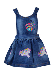 Hasbro MLP Seeveless Dress for Infants Girls, 6-12 Months, Dark Blue