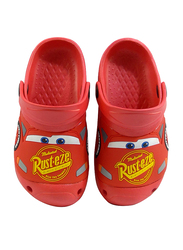 Crocs Disney Cars Lightning McQueen Rust-Eze Themed Clogs for Boys, 31 EU, Red