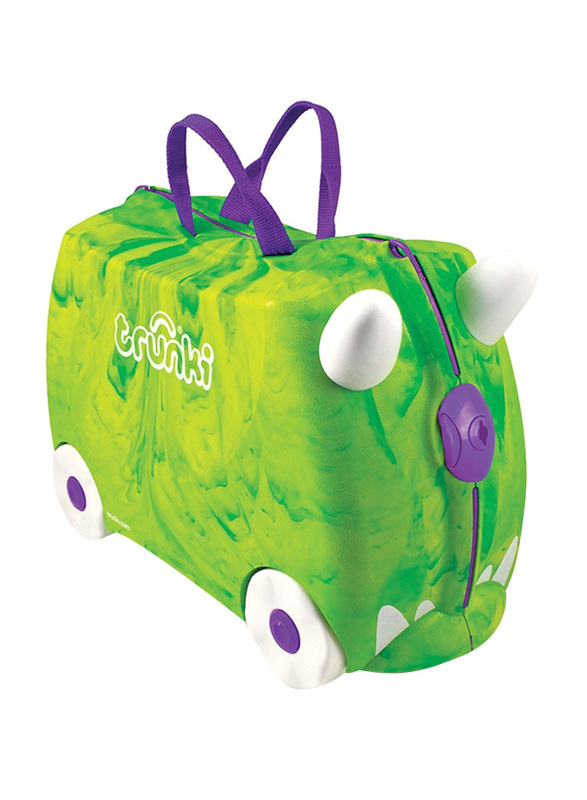 Trunki Rex Dinosaur Suitcase, Green